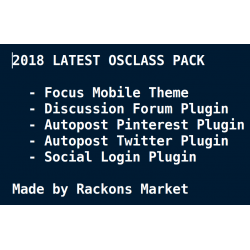 2018 Latest Osclass Pack