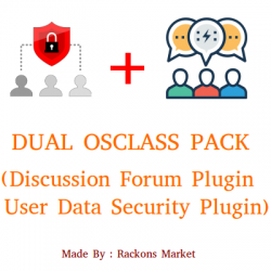 Dual Osclass Pack ( Forum + Data Security Plugin )