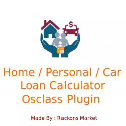 Home, Personal and Car Loan Calculator for Osclass Plugin